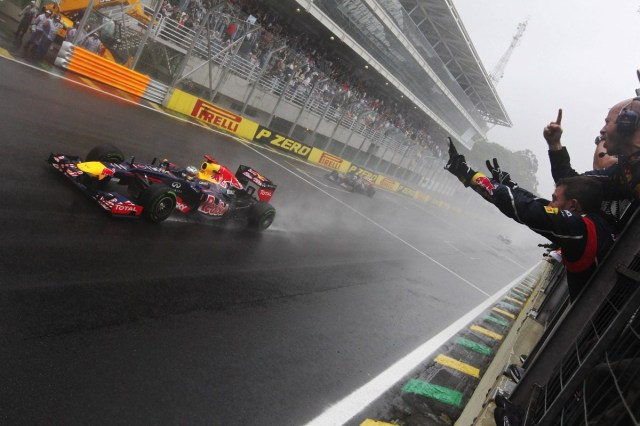Vettel—Brazil 2012 flag