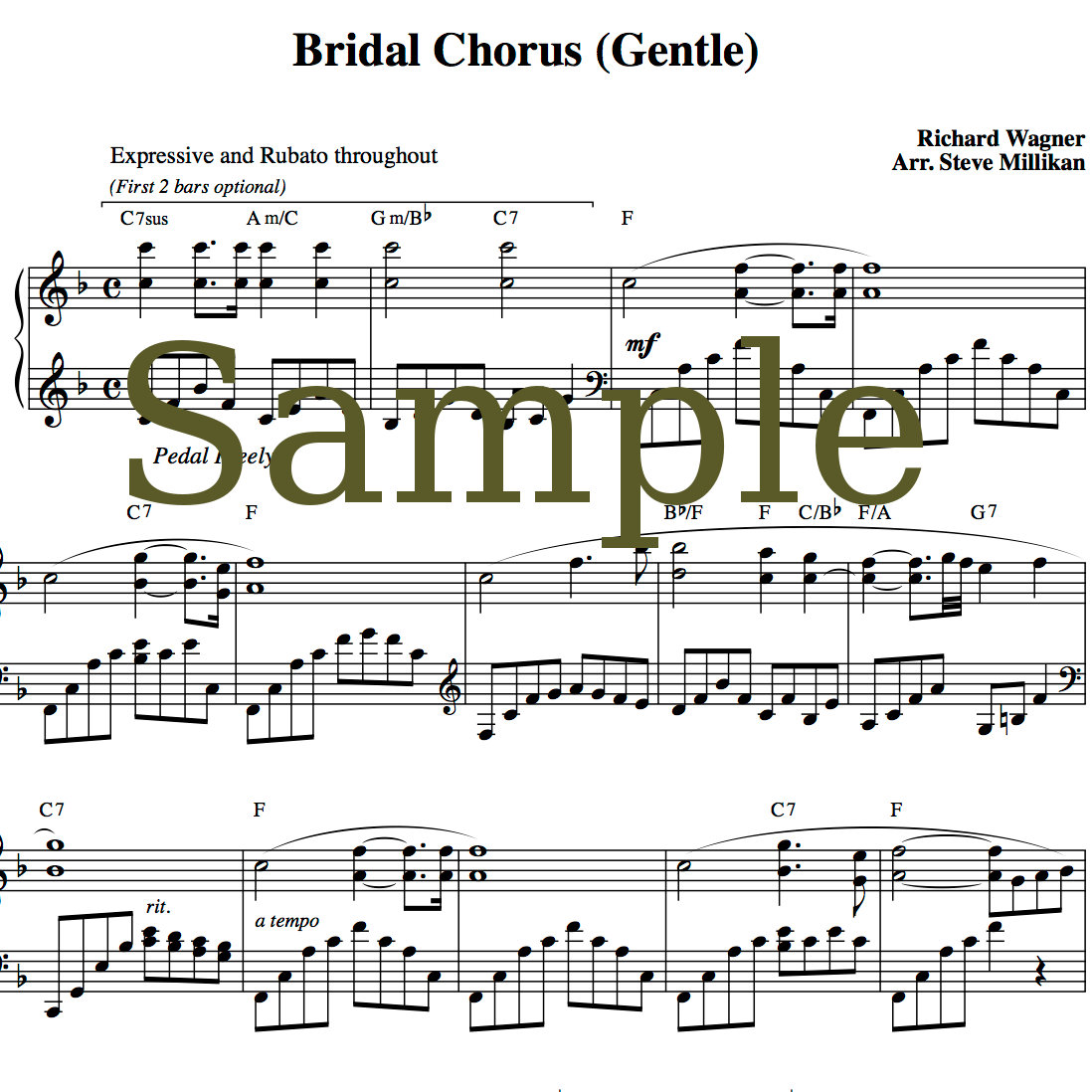 Magnificent By Wedding Music Project Bridal Chorus Sheet Music Comes Wedding March Wedding Processional Songs Piano Wedding Processional Songs Guitar wedding Wedding Processional Songs
