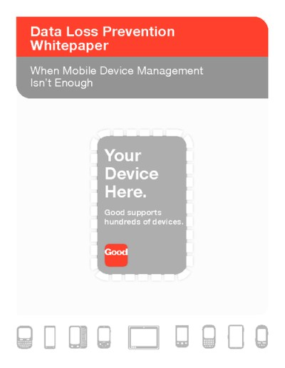 Data Loss Prevention: When Mobile Device Management Isn't Enough