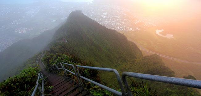 Haiku trappene av Oahu, Hawaii
