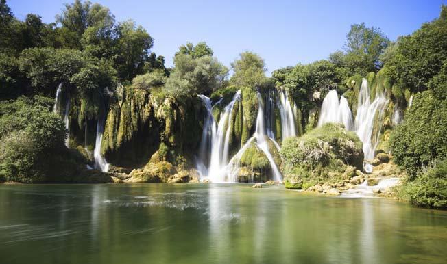 Plitvice sjøene i Kroatia
