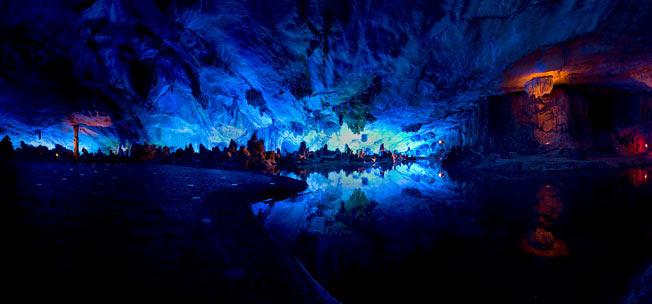 Red flute grotter i Kina