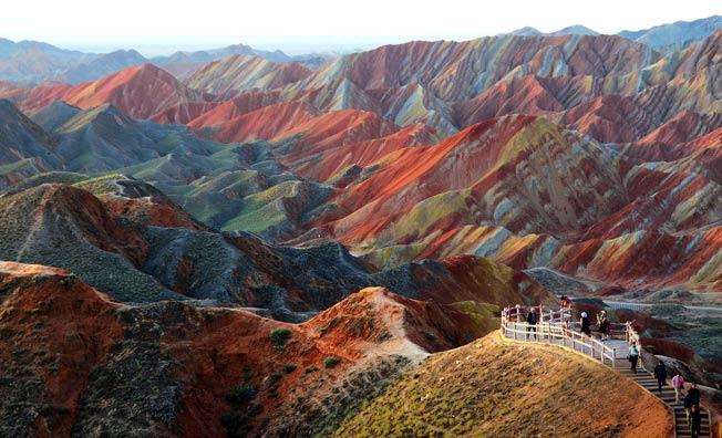 Zhangye Danxia landskap, Gansu Kina