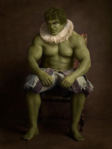 Portrett av en skikkelig robust grønn mann