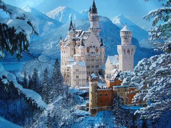 Neuschwanstein Castle Bavaria, Tyskland
