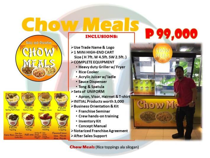 chow meals franchise rice toppings