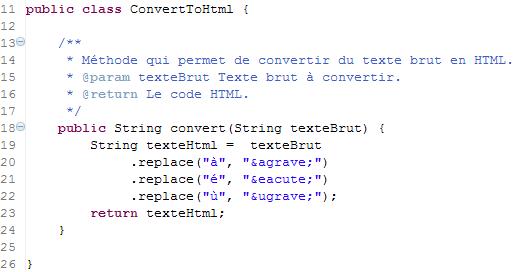 Refactoring du code
