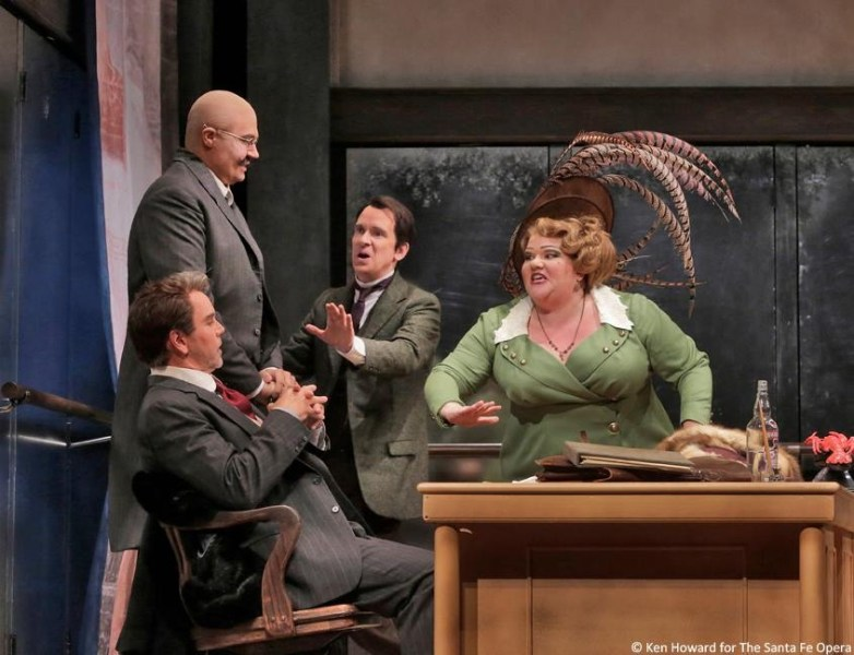 Le Rossignol - Santa Fe Opera - Anthony Michaels Moore, David Govertsen, Kevin Burdette, Meredith Arwady - Photo: Ken Howard