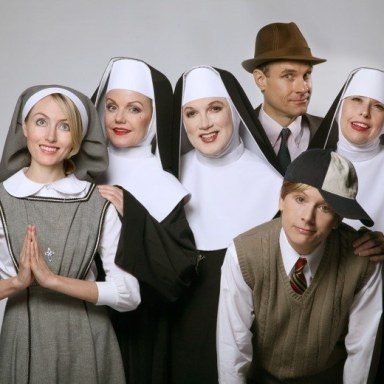 Charles Busch (Mother Superior), Alison Fraser (Sister Walburga/Mrs.Macduffie), Amy Rutberg (Agnes), Jennifer Van Dyck (Mrs. Levinson/Timothy), Jonathan Walker (Jeremy/Brother Venerius) and Julie Halston (Sister Acacius).