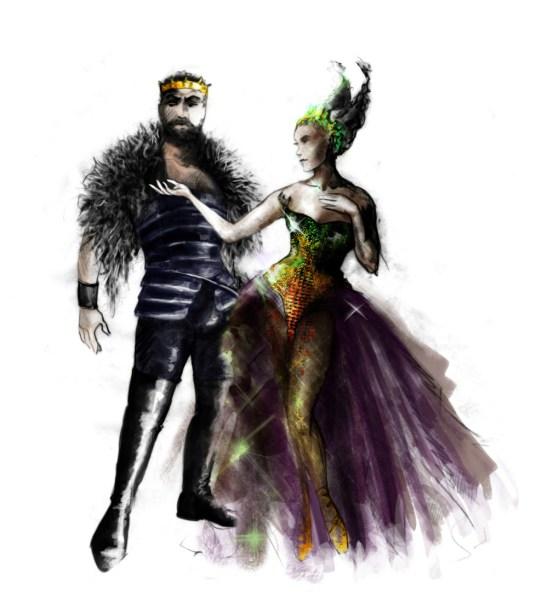 Oberon and Titania   -   Rendering: Fabio Toblini