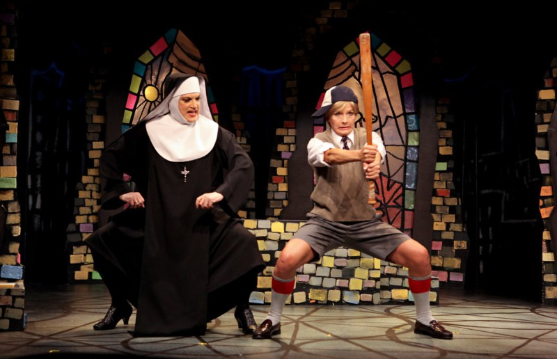 Charles Bush and Jennifer Van Dyck as Mother Superior and Timothy   -   Photo: Sara Krulwich/The New York Times