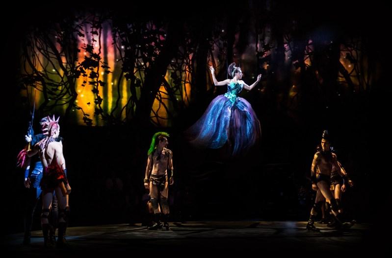Christina Acosta Robinson as Titania and Ensemble  Fairies   -   Photo: Dan Norman