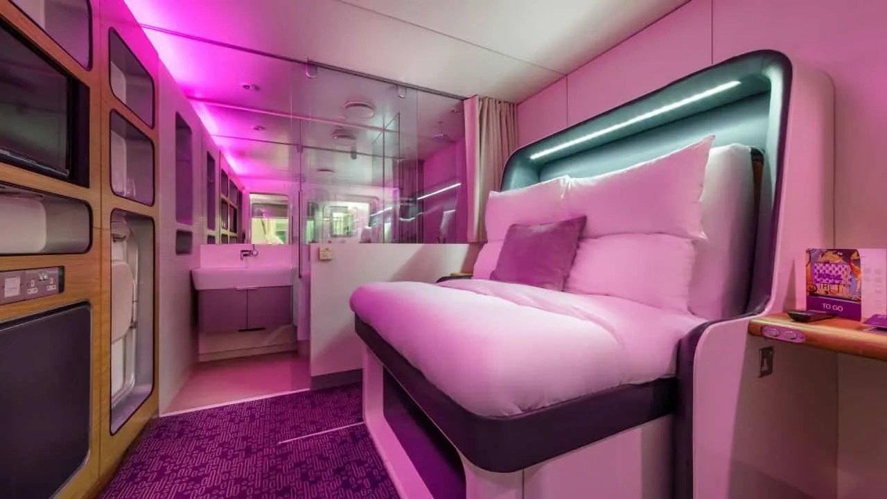 Yotel's Premium cabin has a retractable bed (Image courtesy of Yotel)