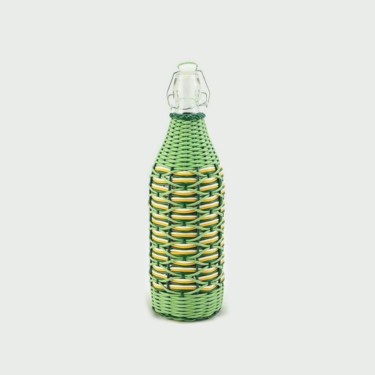 botellas trenzadas scoubidou vintage fabricadeimaginacion4