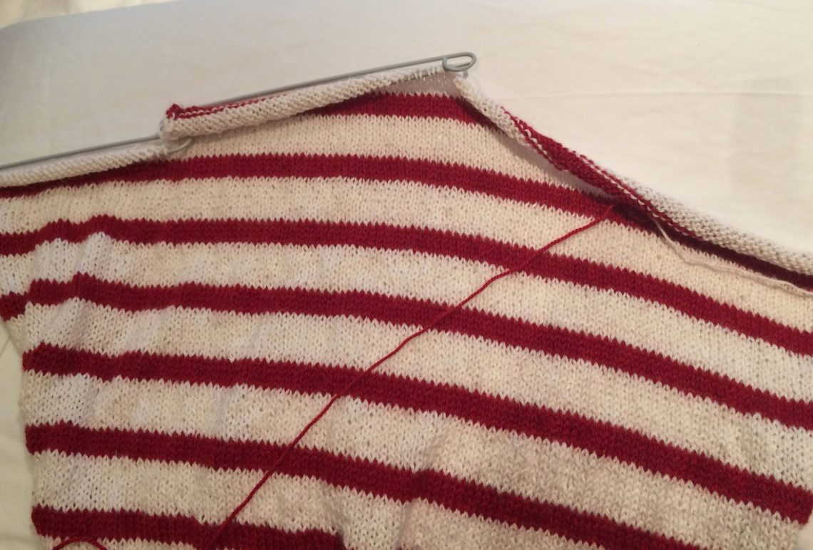 Making a knitted jumper