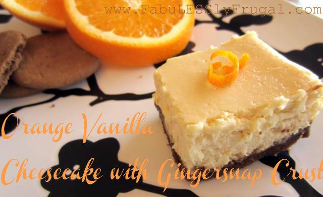 Paleo Honey Vanilla Cheesecake with Gingersnap Crust