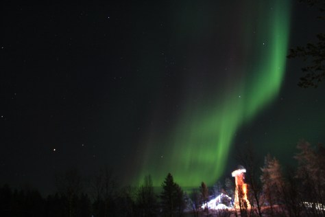 Aurora Borealis at Santa's Village, Lapland