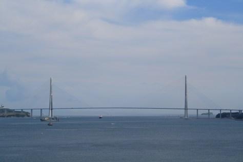 View of Golden Horn Bridge from Mayak, Vladivostok