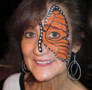 Butterfly Face Painting by Lisa