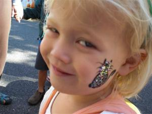 Glitter Kitty Face Painting
