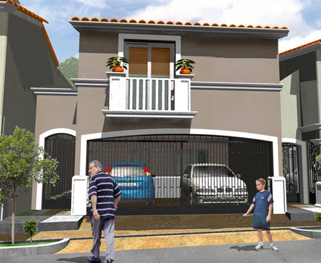 12 bonitas fachadas de casas con tejas fachadas de casas for Casas con balcon y terraza