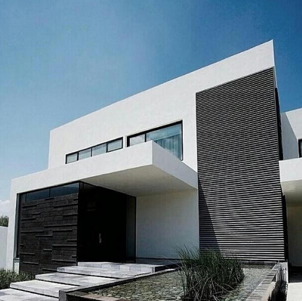 10 fachadas de casas modernas con jardineras fachadas de - Casas contemporaneas modernas ...