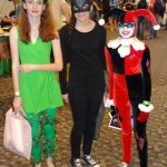 Poison Ivy, Catwoman, and Harley Quinn - Cincy ComiCon 14