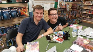 Charles Soule and Ryan Browne signing comics