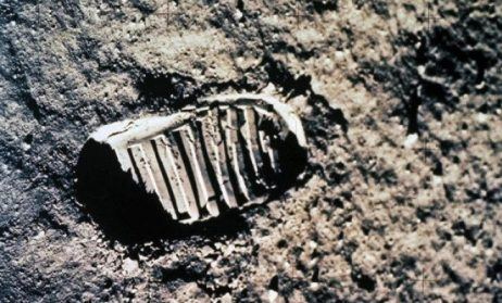 This is a picture of Neil Armstrong's first foot on moon which he took by himself. Even after 45 years his step looks as fresh as it was in 1969 and it seems only yesterday he walked on the moon.