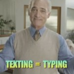 texting is typing
