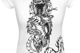 Handmade T-Shirt mit Drachen-Print