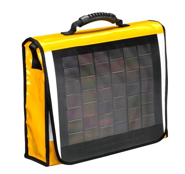 Yellow Messenger mit Solarmodul