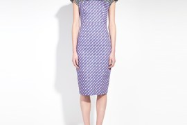 PRINTED ORGANIC COTTON TAILORED PENCIL DRESS