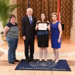 Shirley Honor Students Attend Reception at Governor's Mansion