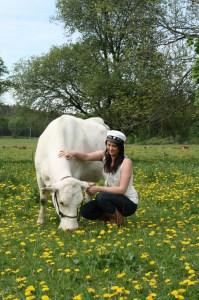 studentporträtt med ko