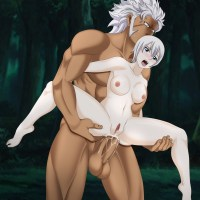 Lisanna gets huge cock up her tight ass and now she can scream as loud as she wants - in the forest no one will hear her!