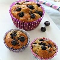 Muffin végétarien aux Myrtilles {Green Movement is coming - La cure Cabot}