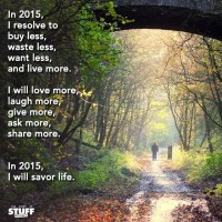 Your Goal for 2015 : Savor Life