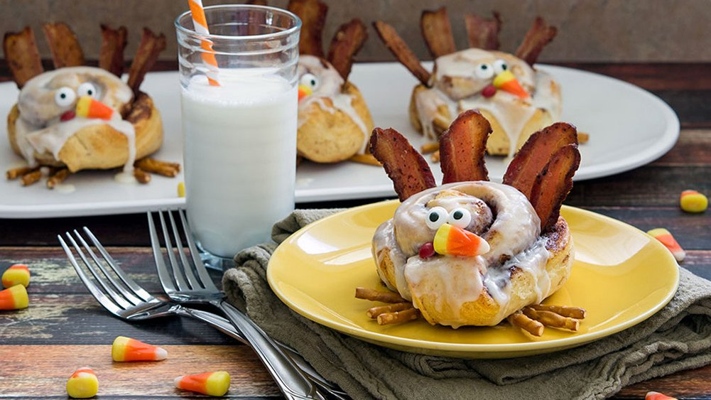 Cinnamon Roll Turkeys | Faith, Hope, Love, and Luck Survive Despite a Whiskered Accomplice