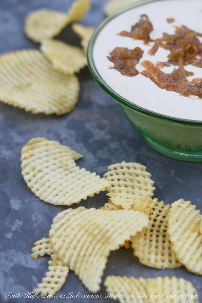 Classic French Onion Dressing & Dip | Faith, Hope, Love, and Luck Survive Despite a Whiskered Accomplice