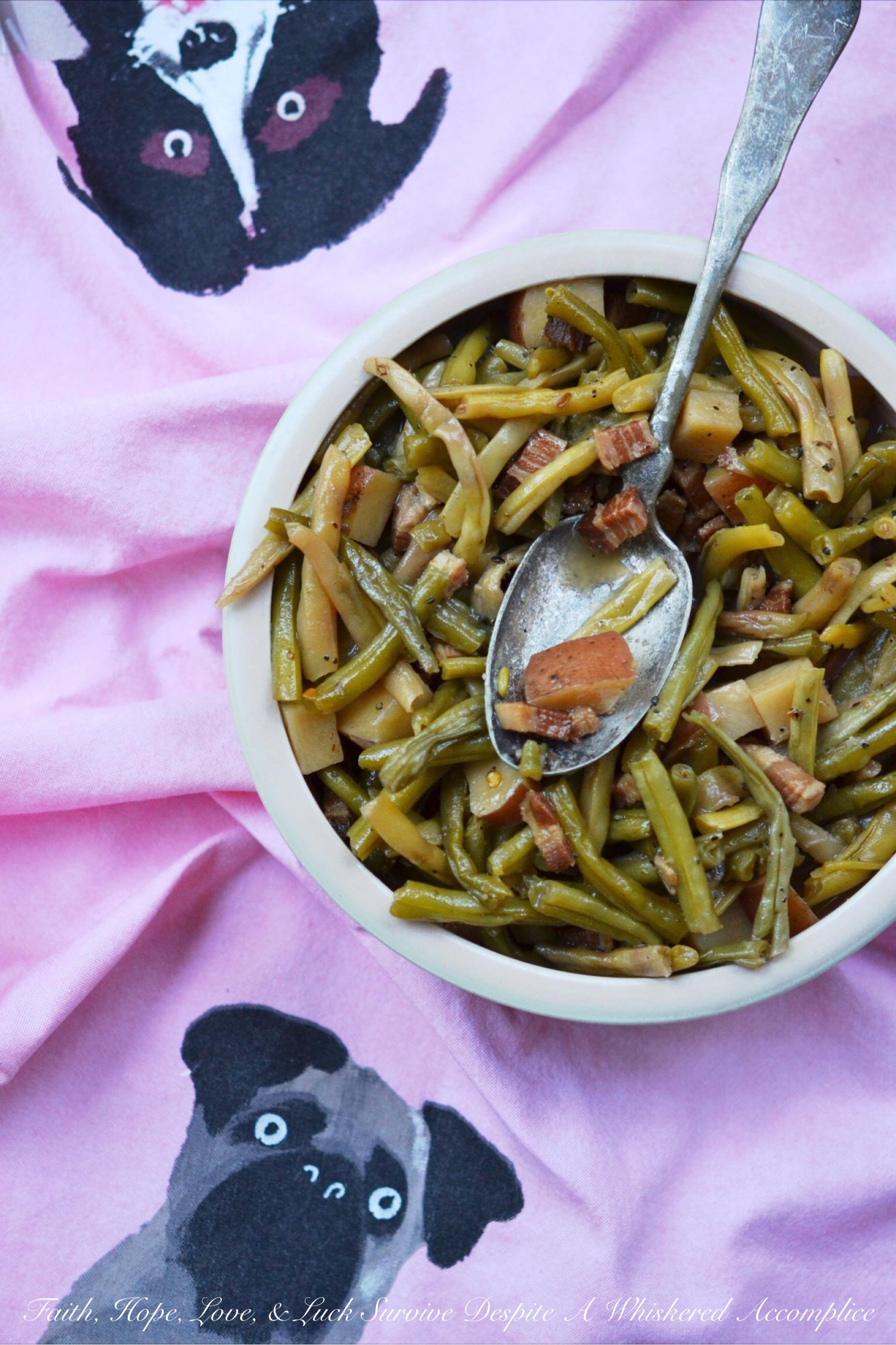 Salt Pork Summer Crockpot Green Beans