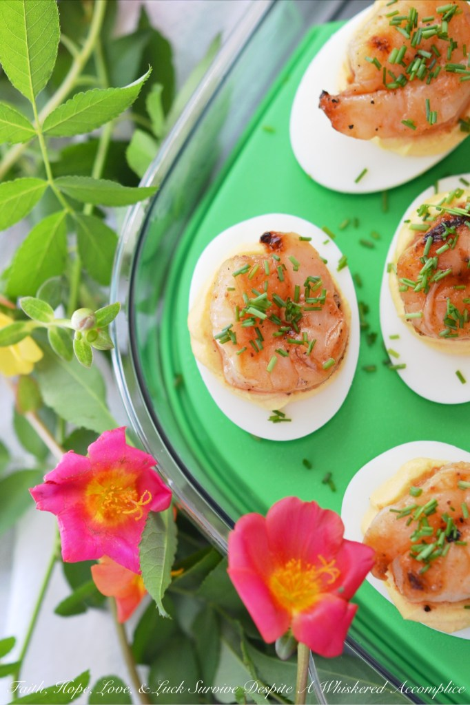 Honey-Barbecue Shrimp Deviled Eggs | Faith, Hope, Love, and Luck Survive Despite a Whiskered Accomplice