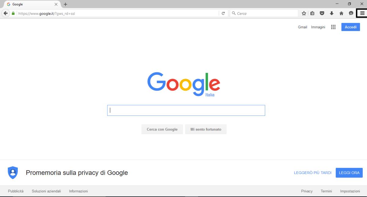 Impostazioni Firefox