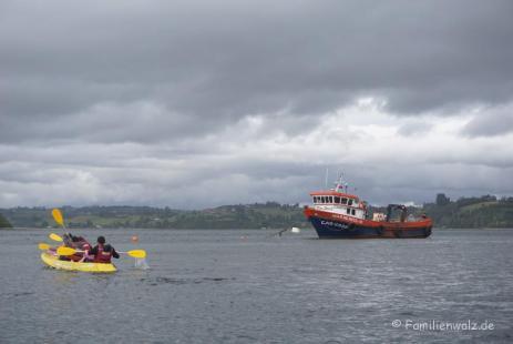 Bootsfahrt in Chiloé