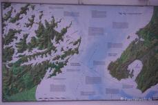 Karte der Fährstrecke zwischen Nord- und Südinsel