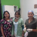 L-R: Dr. Tania-Unidentified Assistant-Dr. Leticia