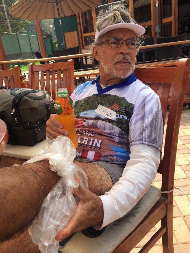 Carlos twisted his knee is dramatic fashion