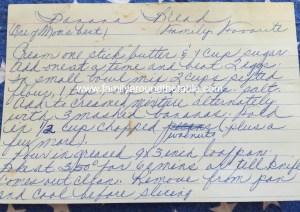 Mom's Handwritten Recipe