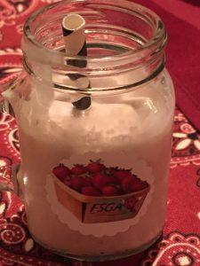 Strawberry Milkshake with rum