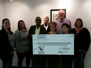 Receiving a $45,000 donation from the John & Katherine Miller charitable fund!